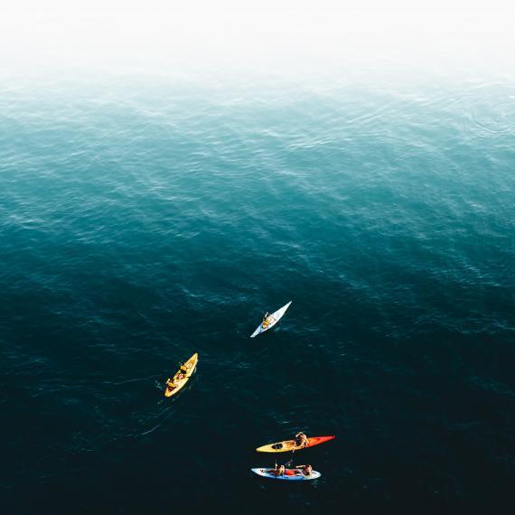 Kayak in the Mediterranean